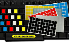 Blank Keyboard Stickers PC Computer Laptop White Black Transparent Various Color