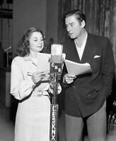 OLD PHOTO CBS RADIO TV Errol Flynn on the radio drama of Gentleman Jim 3