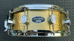 """PACIFIC by DW Hammered Brass 5"""" X 14"""" Snare Drum"""