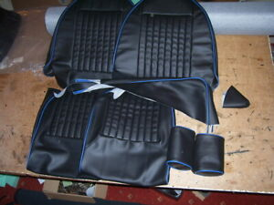 triumph spitfire 1500 SEAT covers..traditionally british made.black & BLUE edges
