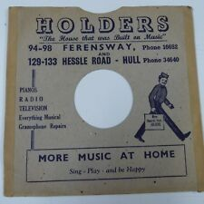 "10"" 78rpm gramophone record sleeve HOLDERS Fersway + Hessle Road, Hull"