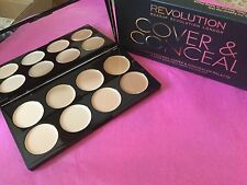 Makeup Revolution Ultra Cover and Conceal  Palette Light - Medium - Boxed
