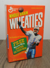Vintage Wheaties Cereal w/Warren Moon Poster NFL 12 Oz Full Box Factory Sealed