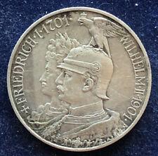 2 Mark 1901 A Preussen Wilhelm II Deutsches Reich 11,11 g .900 Silber KM#525