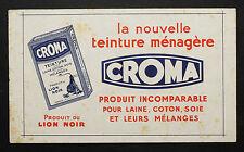 BUVARD PUBLICITAIRE ANCIEN : CROMA LION NOIR