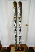 DYNASTAR EXCLUSIVE ACTIVE SKIS SIZE 160 CM WITH FLUID BINDINGS