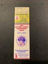 1974 NLCS GAME 2 FULL TICKET STUB PITTSBURGH PIRATES LOS ANGELES DODGERS NM YELL