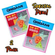 2-Pack AITOH Origami Double Sided Paper Multi-Colors 5 7/8in x 5 7/8in 36 Sheets