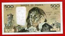 (Ref: U.302) 500 FRANCS PASCAL 6/07/1989 (SPL+) RARE