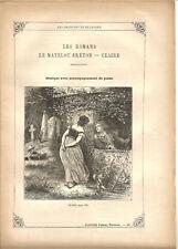 """Partition """"Les Chansons de Béranger"""" N°8 Lire détails sur la photo.8 pages.RARE+"""