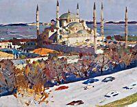 Istanbul by Russian  Baskakov Nikolai Nikolaevich. Canvas City Art. 11x14 Print