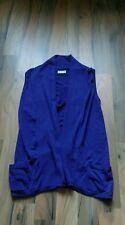 ladies size medium wallis purple sleeveless cardigan