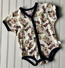 Atlanta Braves One Piece Creeper MLB Majestic Baby Size 6/9 Months Teddy Bears