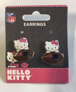 Hello Kitty New England Patriots Stud Earrings NEW Jewelry FREE U.S.A. SHIPPING