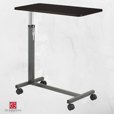 Overbed Table Medical Rolling Over Bed Hospital Stand Adjustable Desk