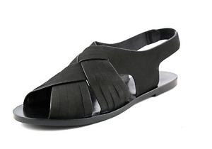 Elie Tahari Seacliff Open-Toe Leather Slingback Sandal Black 6 NIB $250