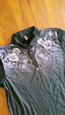 asos black w purple butterfly print collar polo shirt szL BNWOT free post D65