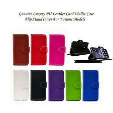 Book Luxury PU Leather Card Wallet Case Flip book Stand Cover For Various Models