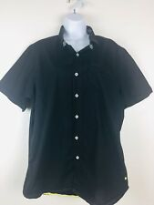 Descendant Of Thieves Mens Shirt Extra Large Short Sleeve Button Front Black