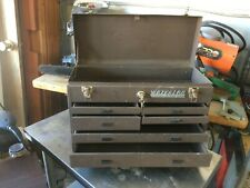 "VTG Waterloo Industrial Machinist Metal Tool Box 21"" Chest 7 drawer #40070 USA"