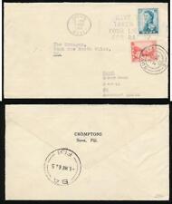 FIJI 1962 INTERNAL to BA 1d + 2d RADIO LICENCE SLOGAN CROMPTONS PRINTED ENVELOPE