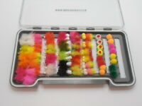 Blob Trout Flies, 62 Boxed Set Loads of variety, Mixed 8/10 Fly Fishing - NBX128