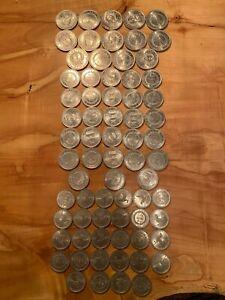 70 Cambodia 1959 10, 20, and 50 Sen Coins - UNC