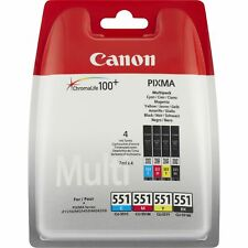Genuine Canon CLI-551 BK/C/M/Y 4 Colour Ink Cartridge Multipack For PIXMA iP7200
