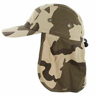 Foreign Legion Flap Cap Hat Desert Camo Sun Protector Camping Hunting Fishing