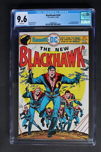 BLACKHAWK #244 Return DC 1976 New Uniforms KUBERT TEAM-c SPIELBERG Movie CGC 9.6