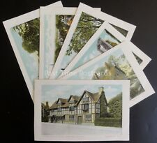 Warwickshire STRATFORD ON AVON Collection of 6 Postcards c1903 by Valentine