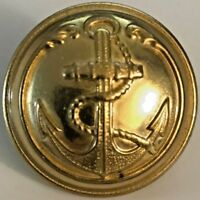 French Navy / Marine Infantry Uniform Anchor Brass Button -  25mm