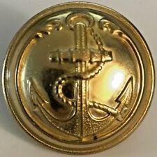 French Navy / Marine Infantry Uniform Anchor Brass Button -  25mm #4948