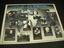 Dannii Minogue Wendy James Kim Wilde Ruth Joy others 1992 Promo Poster Ad mint