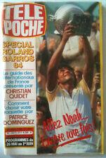 >Télé Poche 22/05/1984 Spécial Roland Garros / Yannick Noah / Montand