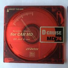 MiniDisc 1x Victor cruise MD rojo 74 min desde japón extremadamente rara