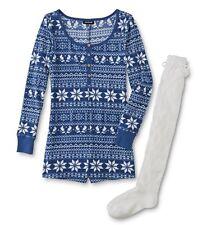 Romper Pajamas Womens Plus Size 1X 20/22 One Piece Shorts Set +Knee Socks XL NEW