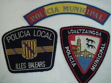 More details for set of 3 spanish municipal police patches including balearic islands