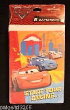 Hallmark Disney Pixar Cars Lightning McQueen Invitations Invitation Cards 8 Ct