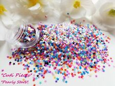 Nail Art *PearlyStar* Pearlized Matt Effect Chunky Shape Glitter Spangle Mix Pot