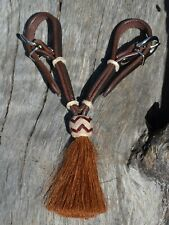 HAND BRAIDED 100/% RAWHIDE BIT HOBBLE with RAWHIDE BUTTONS