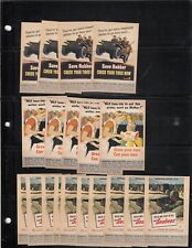 Famous War Poster Miniatures Save Rubber Grow Your Own Navy Seabees - #5353