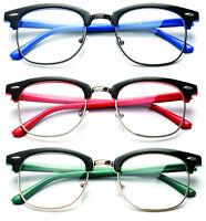 Retro Clear Nerd Lens Frames Glasses Mens Womens Eyewear Fashion UV Protection