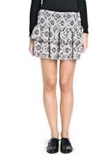 Gonne e minigonne da donna grigi floreale corto, mini