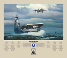 William Phillips RISING INTO THE STORM, Aircraft Carrier, B-25 giclee #250/250
