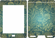 Neuf Kindle Touch livre Lecteur Skin étui Vinyle Autocollant Bleu & Or Oiseau
