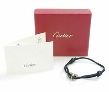 Authentic Cartier Bracelet C Heart Code Breath Charity Silver White Gold #1307