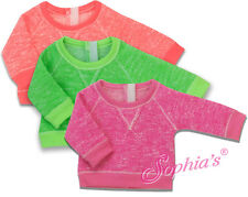 """Pink Neon Slouchy Sweatshirt for American Girl or other 18"""" Dolls"""