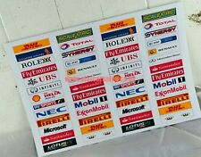 Scalextric F1 Crash Barrier Advertising stickers all new mix 104 for only £7.99