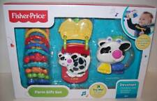 Fisher Price Farm Gift Set Baby Musical Rattle Linkable Toys NEW